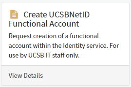 select create ucsbnetid functional account